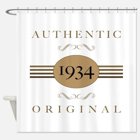 1934 Authentic Original Shower Curtain