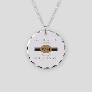 1934 Authentic Original Necklace Circle Charm