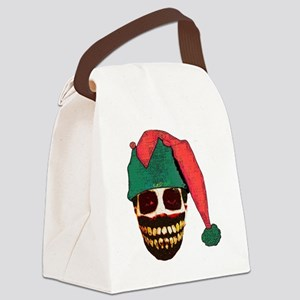 Monster Christmas Canvas Lunch Bag