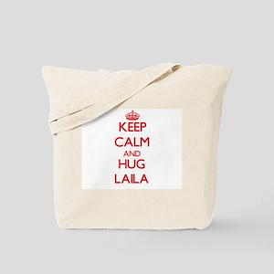 Keep Calm and Hug Laila Tote Bag