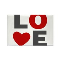 Love Heart Rectangle Magnet (100 pack)