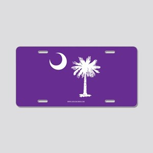 SC Palmetto Moon State Flag Purple Aluminum Licens