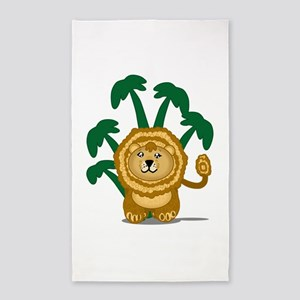 Cute Lion 3'x5' Area Rug