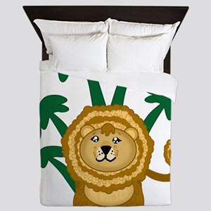 Cute Lion Queen Duvet