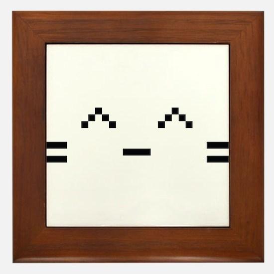 Happy Cat Framed Tile