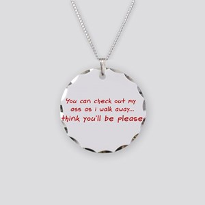 Check Out My Ass Necklace Circle Charm