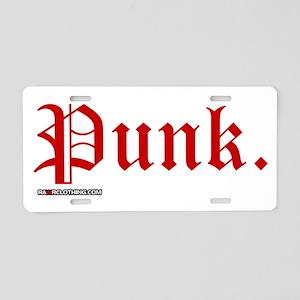 Punk Music Aluminum License Plate