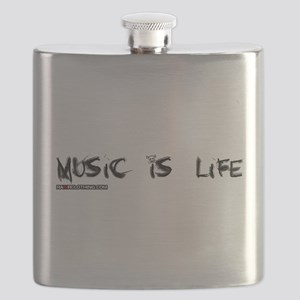 Music Is My Life Skull Flask