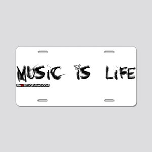 Music Is My Life Skull Aluminum License Plate