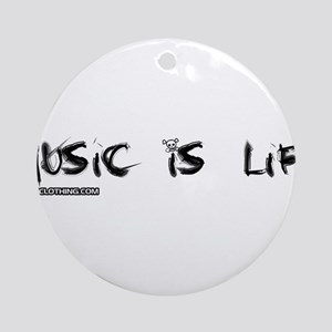Music Is My Life Skull Ornament (Round)