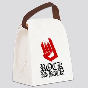 Rock Is Back Canvas Lunch Bag