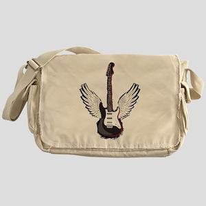 Winged Guitar Messenger Bag