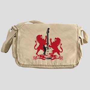 Rock Lion Guitar Crest Messenger Bag
