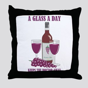 A GLASS A DAY Throw Pillow