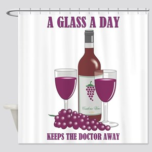 A GLASS A DAY Shower Curtain
