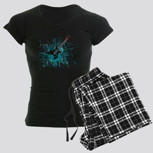 Graffiti Guitar Women's Dark Pajamas