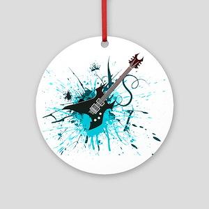 Graffiti Guitar Ornament (Round)