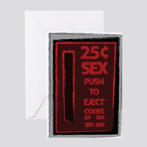 25 Cent Sex Greeting Card