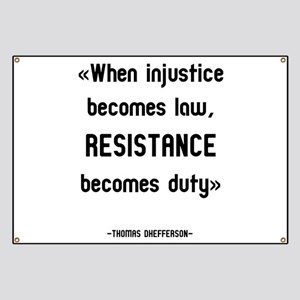 Anti-Trump Resistance Becomes Duty Banner