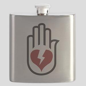 Hand On Heart Flask