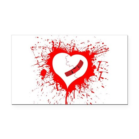Broken Hearted again Rectangle Car Magnet
