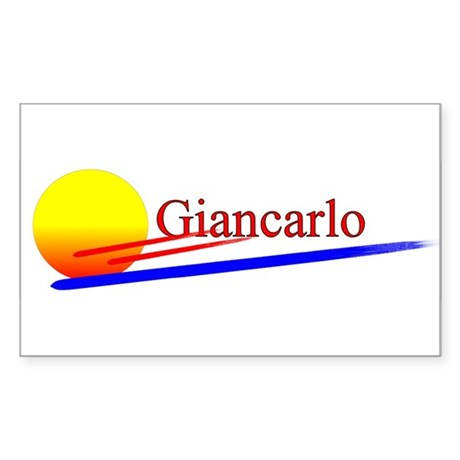 Giancarlo Rectangle Sticker