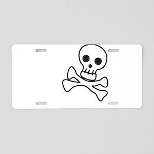 Cute Skull Aluminum License Plate