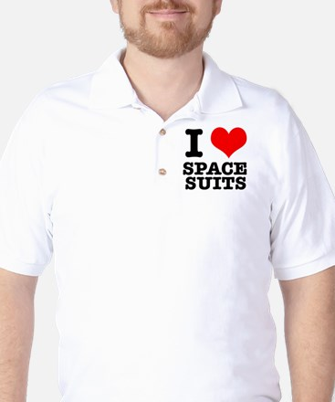 I Heart (Love) Space Suits Golf Shirt
