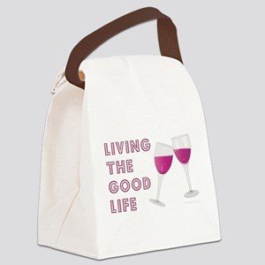 LIVING THE GOOD LIFE Canvas Lunch Bag