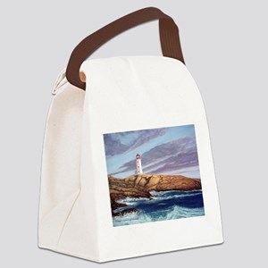 Peggy's Cove Lighthouse Canvas Lunch Bag