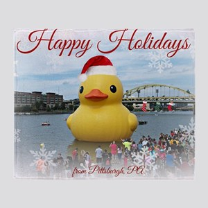 Holiday Duck Throw Blanket