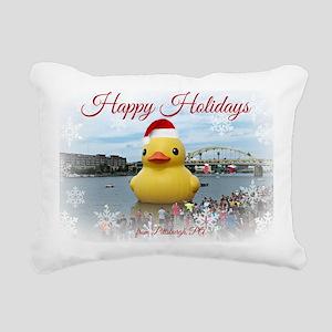 Holiday Duck Rectangular Canvas Pillow