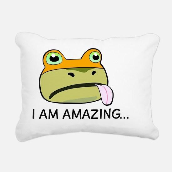 Amazing Frog_OUYA_2 Rectangular Canvas Pillow