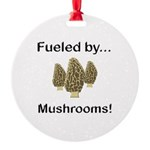 Fueled by Mushrooms Round Ornament
