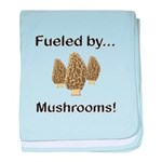 Fueled by Mushrooms baby blanket