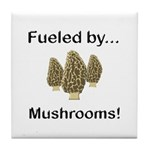 Fueled by Mushrooms Tile Coaster