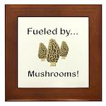 Fueled by Mushrooms Framed Tile