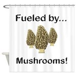 Fueled by Mushrooms Shower Curtain