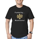 Fueled by Mushrooms Men's Fitted T-Shirt (dark)