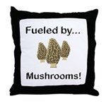 Fueled by Mushrooms Throw Pillow
