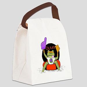Amazing Frog_OUYA_3 Canvas Lunch Bag