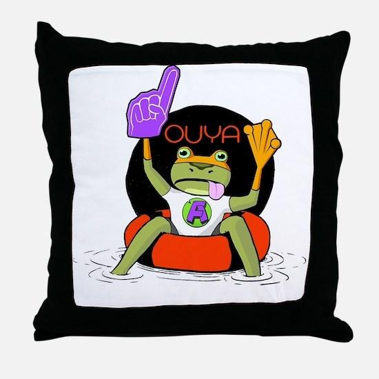 Amazing Frog_OUYA_3 Throw Pillow