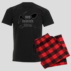 This Grandpa Rocks Men's Dark Pajamas