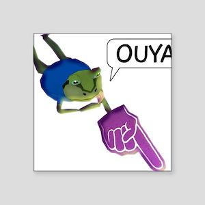 "Amazing Frog_OUYA_5 Square Sticker 3"" x 3"""