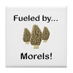 Fueled by Morels Tile Coaster