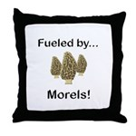 Fueled by Morels Throw Pillow
