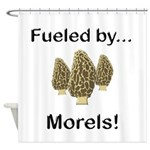 Fueled by Morels Shower Curtain
