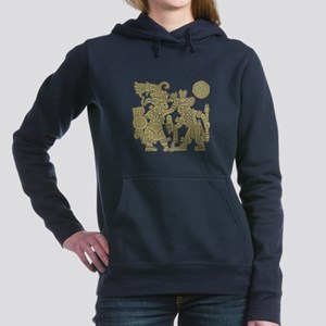 Aztec Carved Hooded Sweatshirt