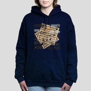 Vintage Music Hooded Sweatshirt
