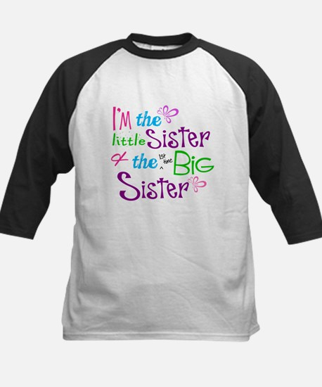 Im a littl and big sister Baseball Jersey